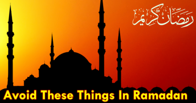 Avoid These Things In Ramadan @ infocorner.net