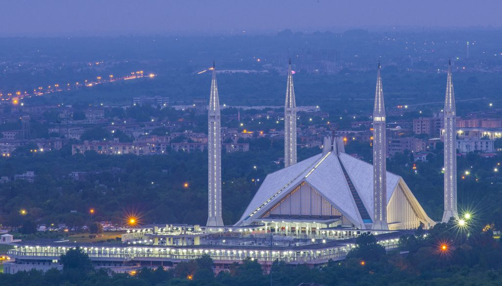 Faisal Mosque - Best Places to visit in Pakistan.