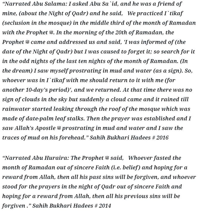 Lailatul Qadr and Last 10 Days of Ramadan